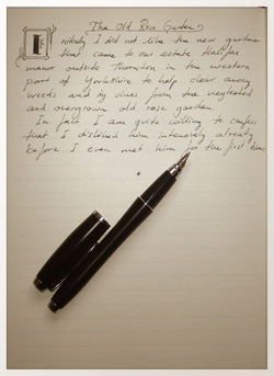writing stories longhand